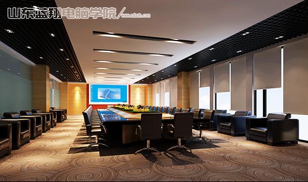 室内设计会议室的种类有剧院形式的,茶馆形式的,还有回字形的,u字形